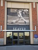 Seaver entrance at the Citi Field, home of major league baseball team the New York Mets