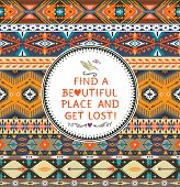 Ethnic print vector pattern background