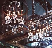 Chrystal Chandeliers Close-up