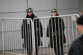 Russian Police In Winter Uniform