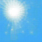 Abstract Sun in the sky Halftone Background