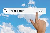 Rent A Car On Search Toolbar