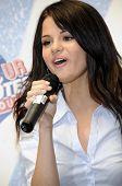 Selena Gomez performing live.