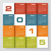 image of february  - clean design simple editable vector calendar 2015 - JPG