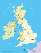 Постер, плакат: British Isles Map