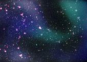 Fantasy Deep Space Nebula With Stars