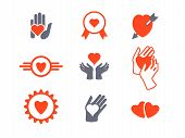 Hearts and Hands Icon Set