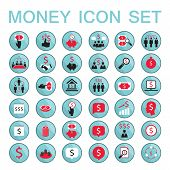 Set Icons Business Success Saving Earning Money