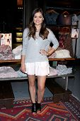 LOS ANGELES - AUG 9:  Lucy Hale  personal appearance to support her clothing line at Hollister at the Westfield Century City Shopping Center on August 9, 2014 in Century City, CA