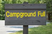 Campground Full Sign