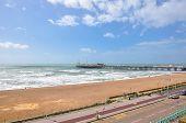 Coastline And Pier In Brighton, East Sussex