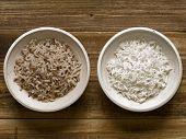 Rustic Cooked Polished And Unpolished Rice