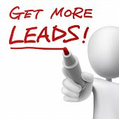 A Person Writes The Words Get More Leads