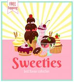 Sweeties retro poster design