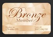 Luxury bronze member card