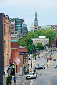 MONTREAL, CANADA - SEP 8: City street view  on September 8, 2012 in Montreal, Canada. It is the larg
