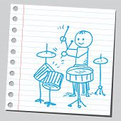 Jazz player drummer