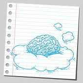Brain in clouds