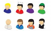 People Icons vector illustrations