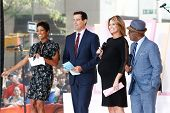 NEW YORK-AUG 8: (L-R) Tamron Hall, Carson Daly, Savannah Guthrie and Al Roker at NBC's