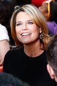 NEW YORK-AUG 8: TV host Savannah Guthrie during NBC's