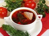 A Delicious Soup In Meat Broth
