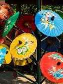 Colorful Rice Paper Umbrella