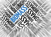 Marketing background - Biomass - blur and focus