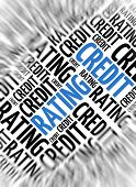 Marketing background - Credit Rating - blur and focus