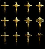 stock photo of christian cross  - Original Vector Illustration - JPG
