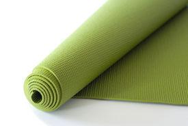 stock photo of yoga mat  - A green yoga - JPG