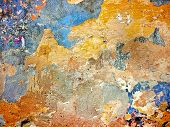 Old Colored Plaster Wall Texture