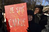Painted Je Suis Charlie sign
