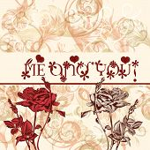 Greeting Valentine's Day Card With Roses  Me And You