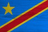 Democratic Republic of the Congo Flag.