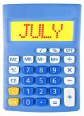 Calculator With July