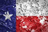 foto of texas star  - Texas State Flag painted on grunge wall - JPG