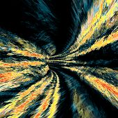 Abstract wormhole colored tunnel art work image