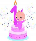 Birthday cake baby