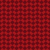 Abstract pattern based on Traditional African Ornament. Warm red colors.