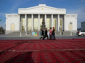 Ashgabat, Turkmenistan - Circa December 2014: Christmas Decoration On Streets Of City Circa December