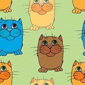 Seamless texture. Cats.