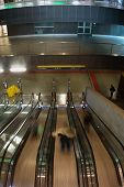 Metro Station Escalators  In Rome