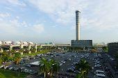 BANGKOK, THAILAND - NOV 07: Suvarnabhumi Airport control tower on November 07, 2014. Suvarnabhumi Airport is one of two international airports serving Bangkok
