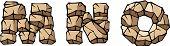 Stone alphabet: MNO