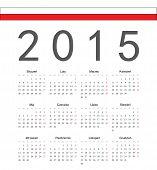 Simple Polish 2015 Year Vector Calendar