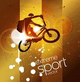 BMX. Extreme sport vector illustration