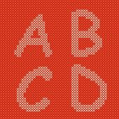 Vector embroidering alphabet