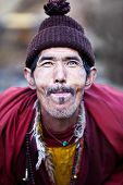 Portrait Of Lively Buddhist Monk