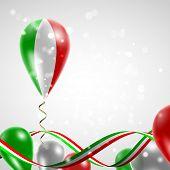 stock photo of balloon  - Flag of Italy on balloon - JPG